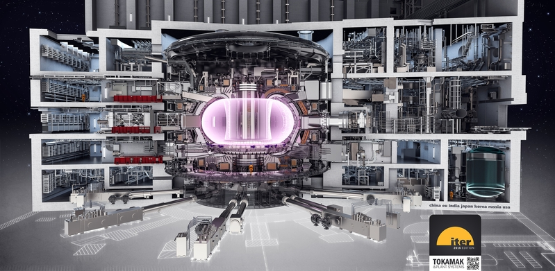 ITER reaktoriaus 3D pjūvis © ITER