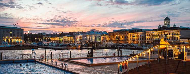 View of Helsinki city center