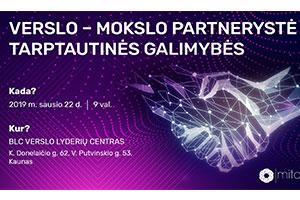 Verslo ir mokslo partnerystė ir tarptautinės galimybės