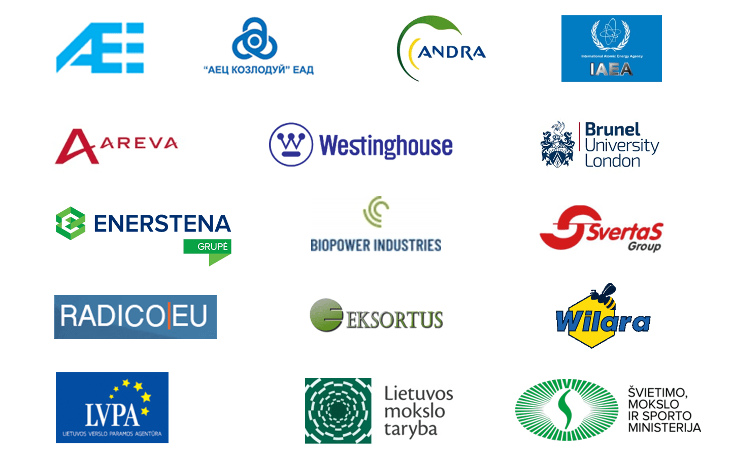 logos of the Nuclear Engineering Laboratory partners